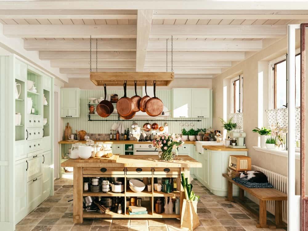 Moderner Landhausstil für Küche und Bad dank Landhaus-Fliesen