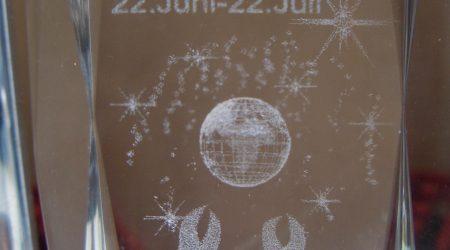 3D Glas eines Sternzeichens
